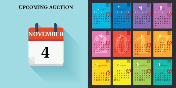 NOVEMBER AUCTION DATE