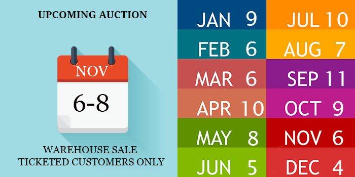 2021 AUCTION DATES
