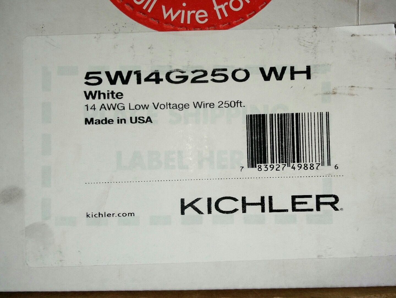 Kichler 5W14G250WH White 14 Gauge Low Voltage Wire - 250 Feet ...