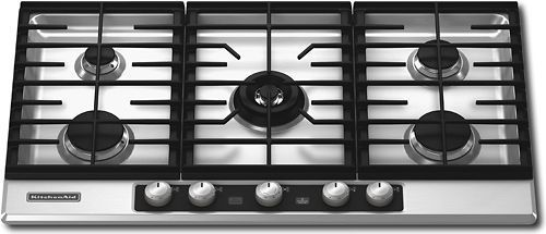 KitchenAid Architect KFGU766VSS 36 Gas Cooktop Stainless Steel  ...