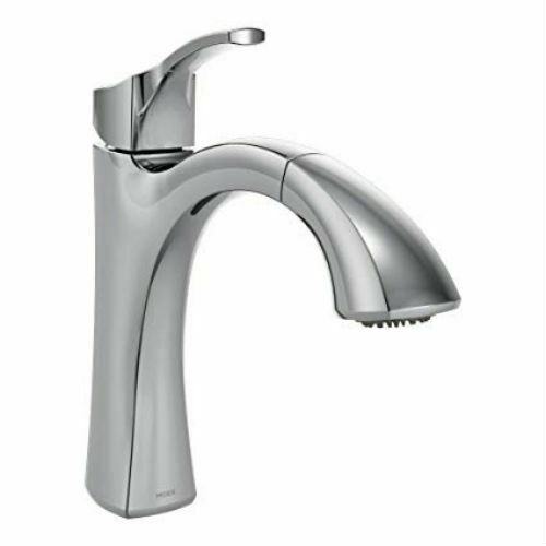 MOEN-Voss-1-Handle-Pull-Out-Sprayer-Faucet-Reflex-Power-Clean-9125C-Chrome-323848709460-2