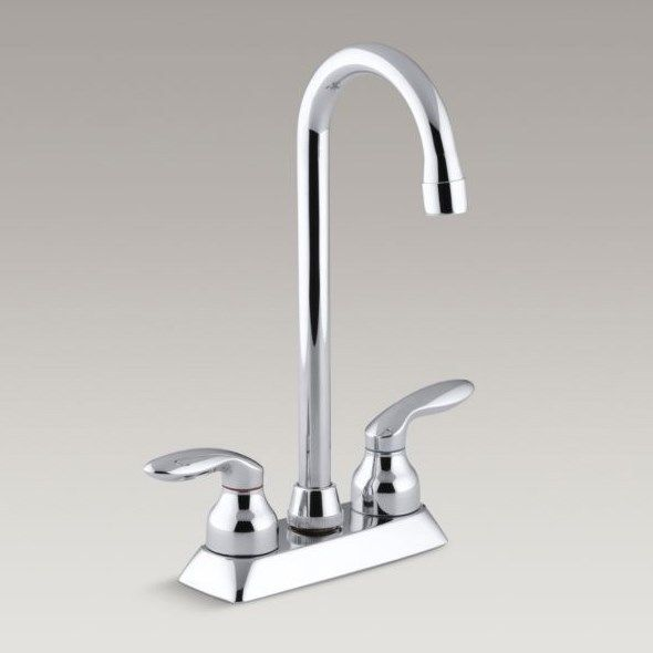 New KOHLER K 15275 4 CP Coralais Bar Sink Faucet Polished Chrome