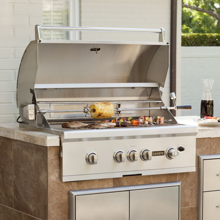 Coyote s series c1sl36 36 inch built in gas grill for Coyote outdoor grills reviews