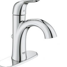 Grohe-23-402-Starlight-Chrome-Agira-Single-Hole-Bathroom-Faucet-SilkMove-Chrome-322115395873