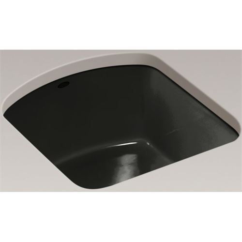 Kohler K 5848 2U FP Caviar Single Basin Cast Iron Bar Sink From The Napa  Series