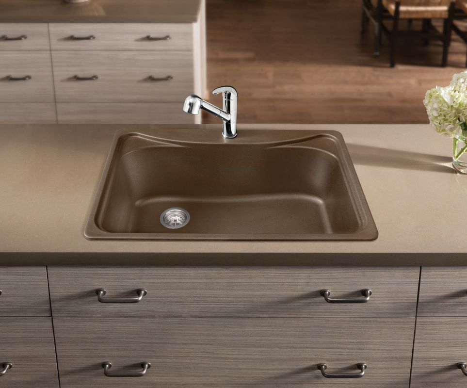 blanco 446005 cafe brown single basin silgranit kitchen