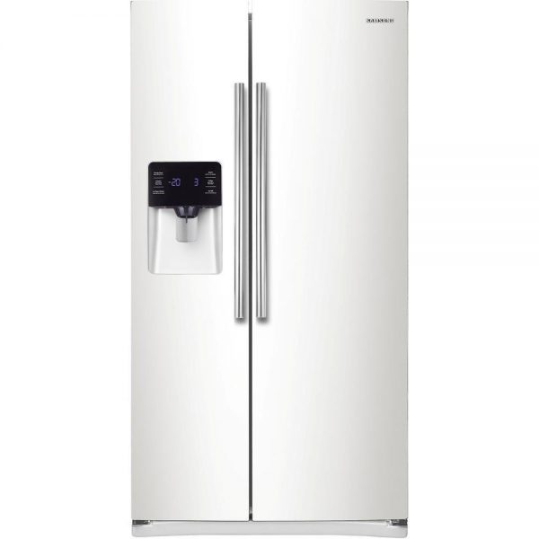 Samsung-RS25H5121WW-36-White-Side-By-Side-Refrigerator-Water-Ice-NEW-DEAL-222325892855