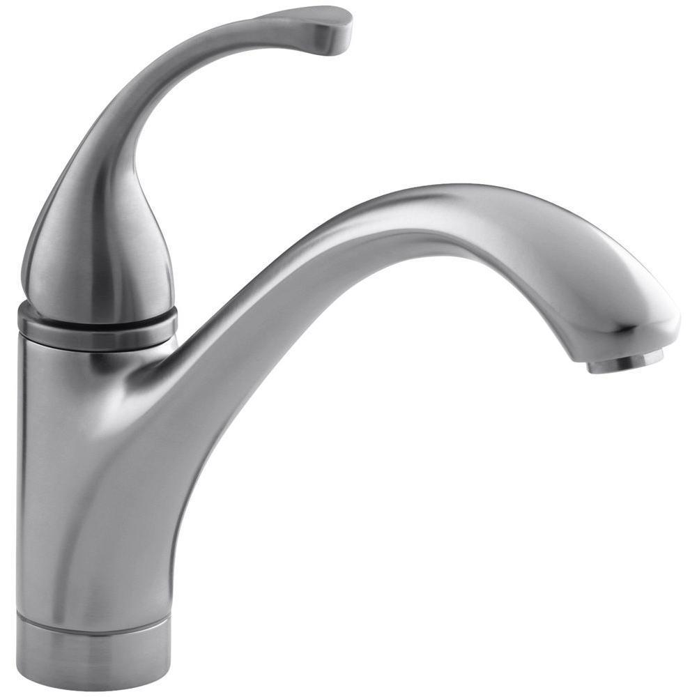 Kohler 10415 G Brushed Chrome Single Handle Kitchen Faucet From The Forte Collec Southern