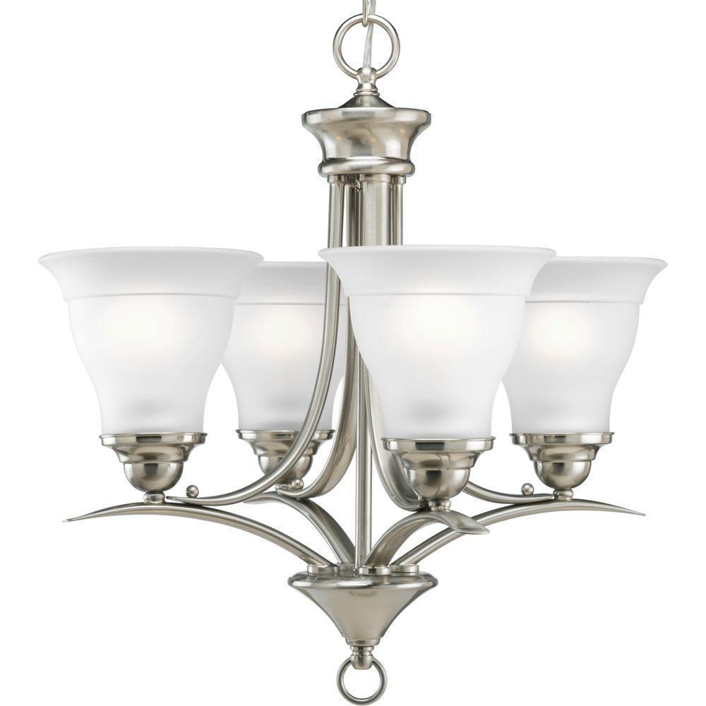 Progress lighting p4326 09 4 light chandelier with etched glass progress lighting p4326 09 4 light chandelier with aloadofball Choice Image