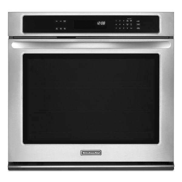 KitchenAid KEBK171BSS Architect 27 Self Clean Single Oven  ...